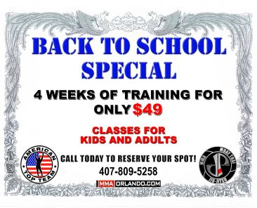 Back to School Special flyer back